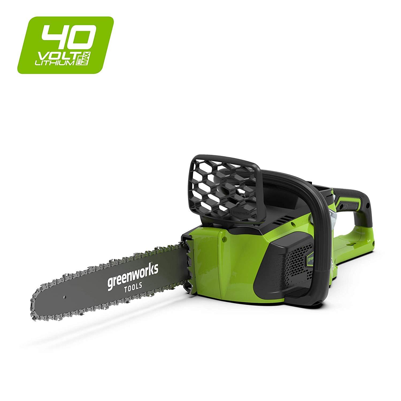 Greenworks Tronçonneuse sans fil sur batterie 40cm 40V Lithium-ion (sans batterie ni chargeur) - 20077 [Classe énergétique A]