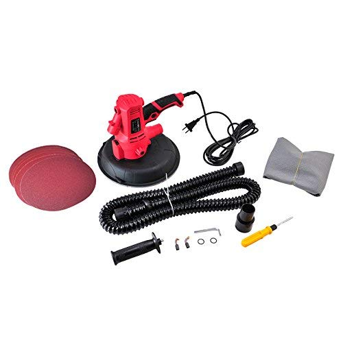 Ponceuse à plâtre 710w electrique Silex® + sac aspiration intégrée + 1 set d'outil - 2 balais de charbon de remplacement - 6 disques en papier de verre (grains variés)
