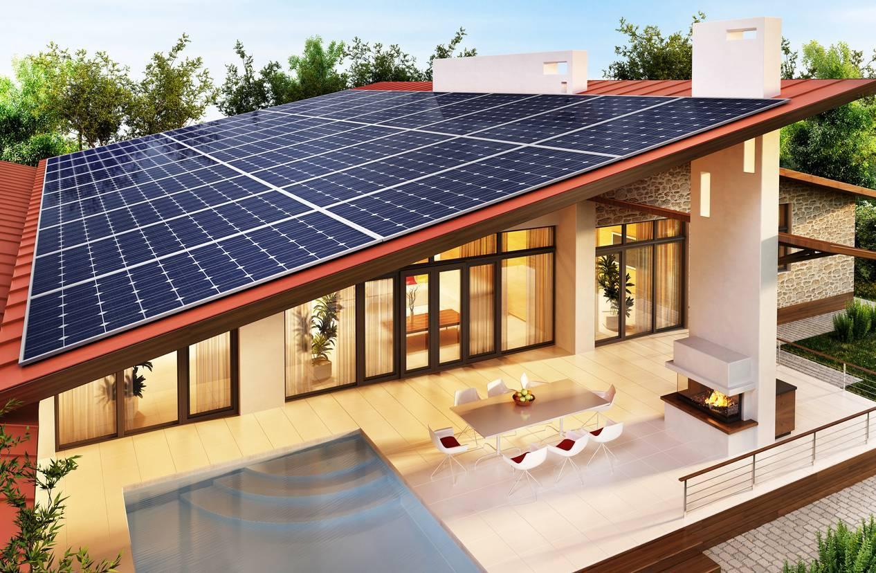 maison à l'énergie solaire