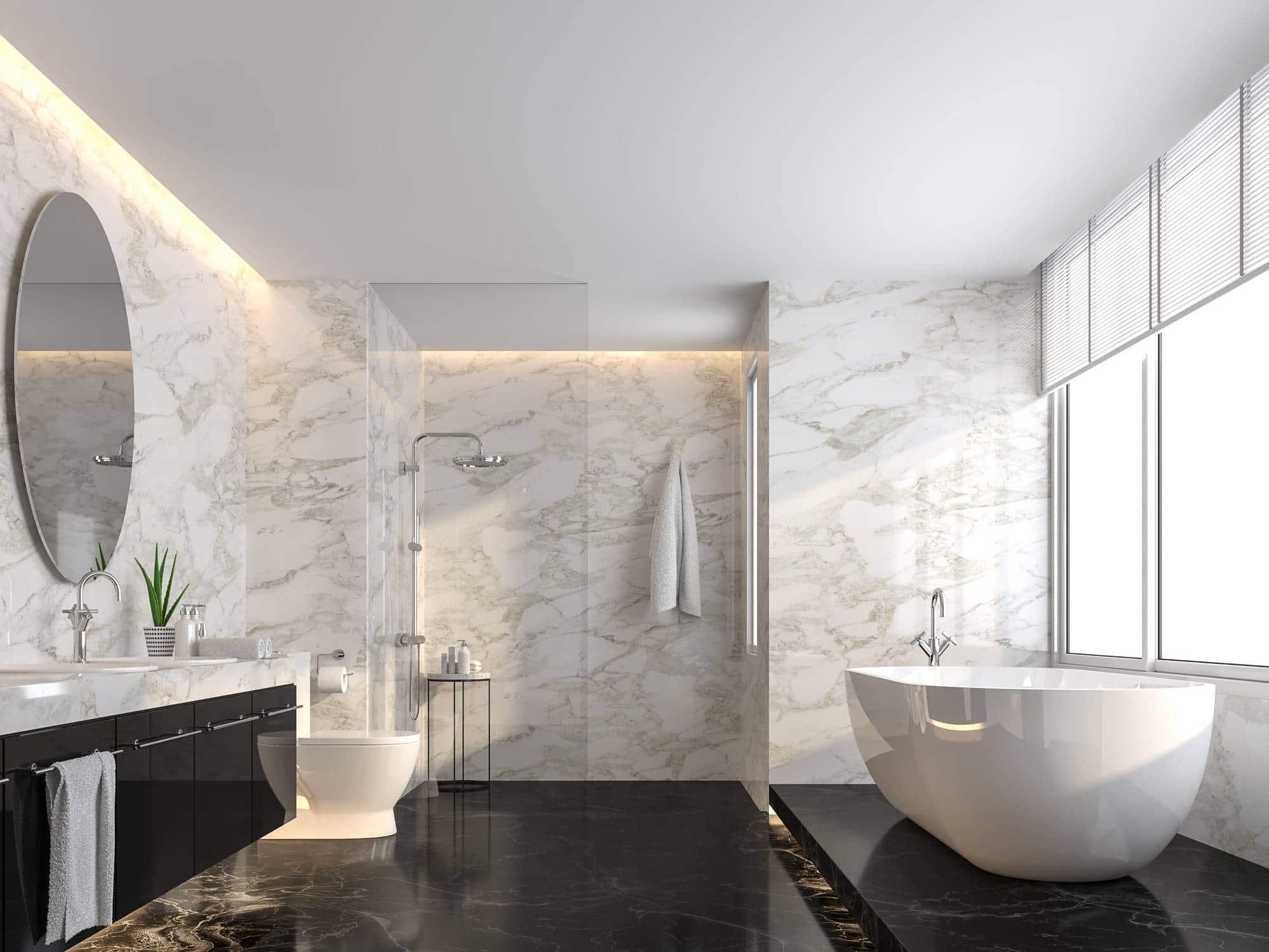 marbre décoration salle de bain